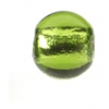 Glass Lamp Bead Round 8mm Olivine/Silver Lined